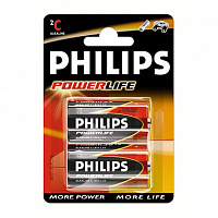 Батарейки C Philips Powerlife LR14 2 шт