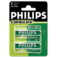 Батарейки C Philips Longlife R14 2 шт